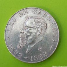 Monedas antiguas de América: MÉXICO. CINCO PESOS. AÑO DE CARRANZA. 1959. Lote 137293910