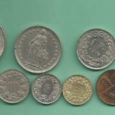 Monedas antiguas de América: SUIZA 10 MONEDAS DE 10 MODELOS DIFERENTES. Lote 137336462