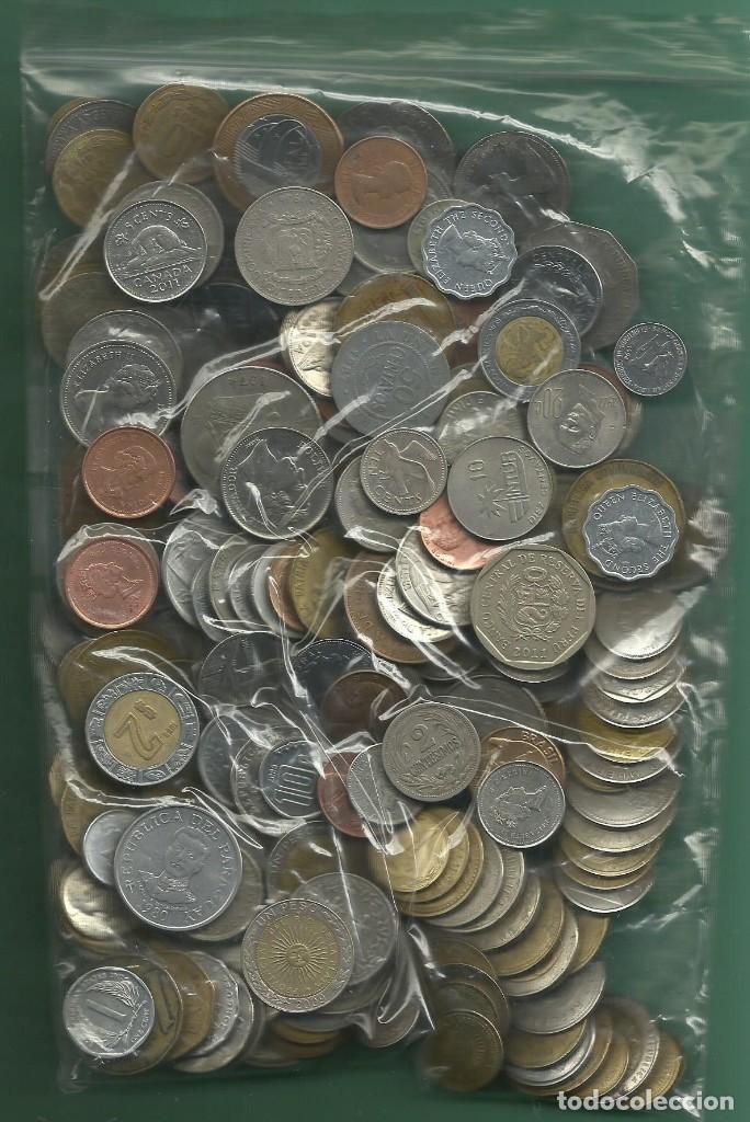 AMERICA. LOTE DE 950 GRAMOS DE MONEDAS DE AMÉRICA. 34 PAISES, 220 MONEDAS (Numismática - Extranjeras - América)