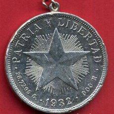 Monedas antiguas de América: MONEDA PLATA REPUBLICA DE CUBA 1 UN PESO 1935 , MBC COLGADA , PATRIA Y LIBERTAD , ORIGINAL , B22. Lote 138162094
