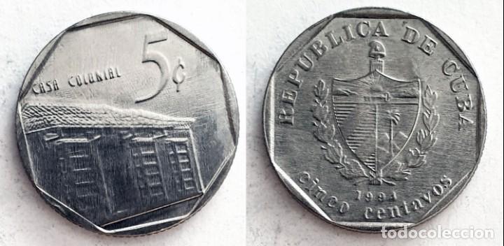 CUBA - 5 CENTAVOS, 1994 (Numismática - Extranjeras - América)