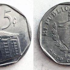 Monedas antiguas de América: CUBA - 5 CENTAVOS, 1994. Lote 138549606