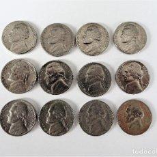 Monedas antiguas de América: ESTADOS UNIDOS - LOTE 12 MONEDAS 5 CENTAVOS - VARIOS AÑOS-VER DESCRIPCION. Lote 138558158