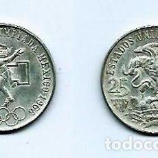 Monedas antiguas de América: MÉJICO,25 PESOS,PLATA 720 MILÉSIMAS,JUEGOS OLÍMPICOS,1968. Lote 210823527