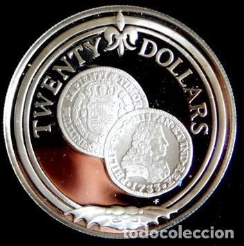Monedas antiguas de América: ISLAS VÍRGENES BRITÁNICAS - 20 DOLLARS 1985 PLATA - Foto 3 - 139320274