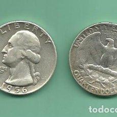 Monedas antiguas de América: PLATA-USA. 2 MONEDAS DE QUARTER 1956,1956-D . MONEDAS DE 6,25 GR.LEY 0,900. Lote 139830270