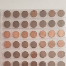 Monedas antiguas de América: LOTE DE 42 MONEDAS DE EEUU DE ONE CENT VARIOS AÑOS. Lote 140281908