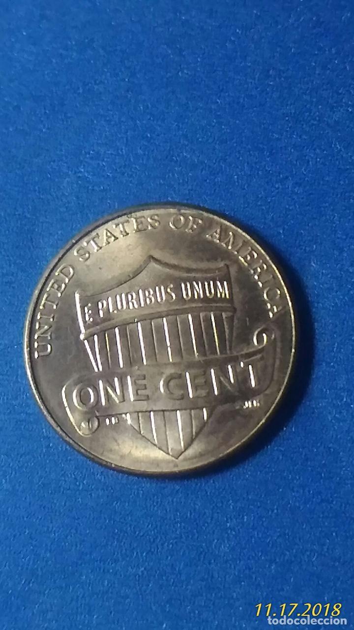 Monedas antiguas de América: MONEDA USA. ONE CENT. AÑO 2011. ANVERSO ABRAHAM LINCOLN. REVERSO ESCUDO E PLURIBUS UNUM. - Foto 2 - 177712680