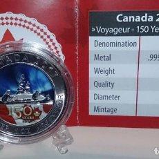 Monedas antiguas de América: 2017 - CANADÁ - 150 ANIVERSARIO VOYAGEUR - EDICIÓN EN COLOR 1.500 UNIDADES. Lote 140514586