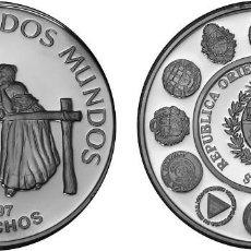 Monedas antiguas de América: URUGUAY 250 PESOS PLATA 1997 PROOF GAUCHOS ENCUENTRO DE DOS MUNDOS. Lote 140537434