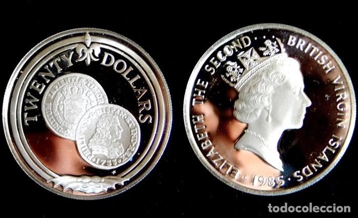 ISLAS VÍRGENES BRITÁNICAS - 20 DOLLARS 1985 PLATA (Numismática - Extranjeras - América)