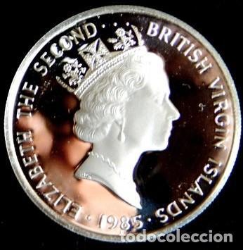 Monedas antiguas de América: ISLAS VÍRGENES BRITÁNICAS - 20 DOLLARS 1985 PLATA - Foto 2 - 139320274