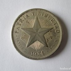 Monedas antiguas de América: CUBA * 1 PESO 1932 * PLATA. Lote 140895718