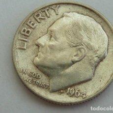 Monedas antiguas de América: MONEDA DE PLATA 1 DIME, 10 CENTAVOS DOLAR AMERICANO 1964, CECA FILADELFIA ESTADOS UNIDOS. Lote 141202126