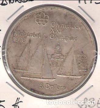Moneda De 5 Dolares De Canada De 1973 Plata C Comprar Monedas