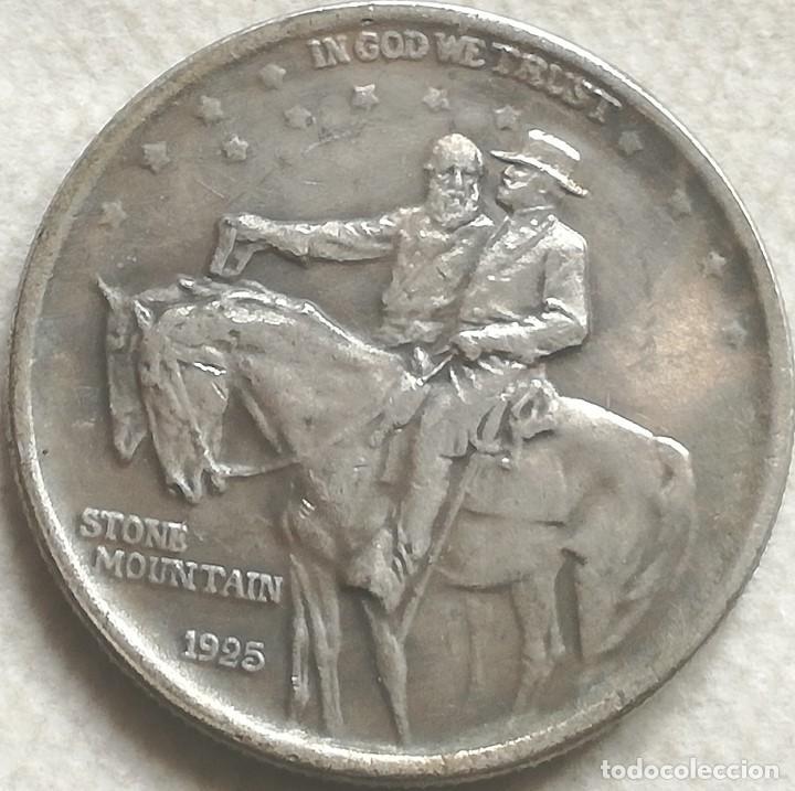 RÉPLICA MONEDA ANIVERSARIO STONE MOUNTAIN. GENERAL ROBERT E. LEE - GRANT. ½ DÓLAR. 1925. ESTADOS USA (Numismática - Extranjeras - América)