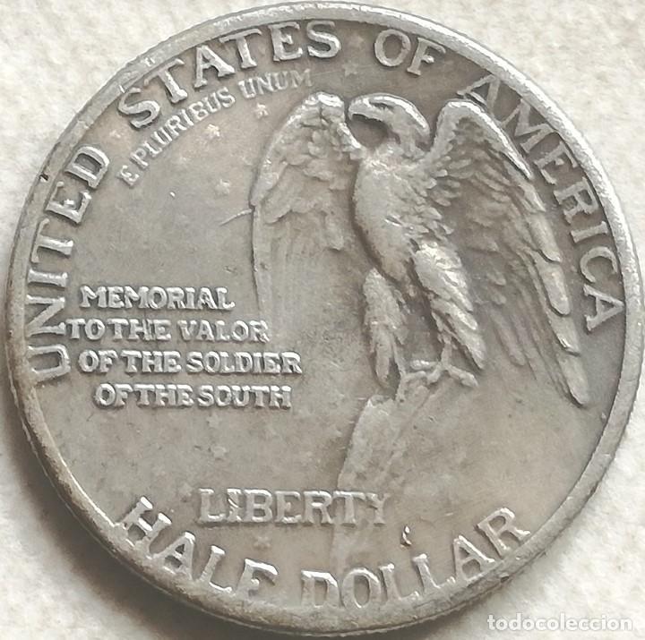 Monedas antiguas de América: RÉPLICA Moneda Aniversario Stone Mountain. General Robert E. Lee - Grant. ½ Dólar. 1925. Estados USA - Foto 2 - 142079430