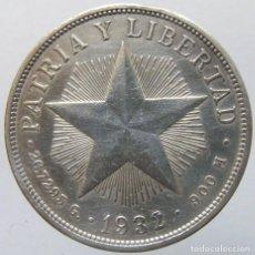 Monedas antiguas de América: CUBA - 1 PESO 1932 - PLATA. Lote 142674498