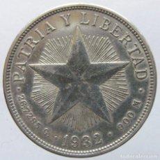 Monedas antiguas de América: CUBA - 1 PESO 1932 - PLATA. Lote 142674974