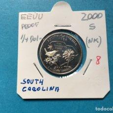 Monedas antiguas de América: K-25 ) EEUU,,1/4 DÓLAR 2000,,S,,NIKEL,,PROOF,, EN ESTADO NUEVO SIN CIRCULAR. Lote 142751662