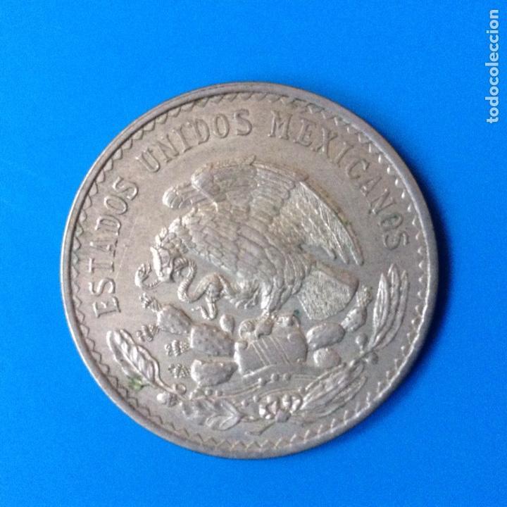 Monedas antiguas de América: MEXICO 1 PESO PLATA 1947 MORELOS - Foto 2 - 142888372