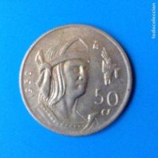 Monedas antiguas de América: MEXICO 50 CENTAVOS PLATA 1950 CUAUHTEMOC. Lote 142889110