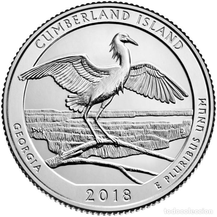 USA 2018 1/4 CUMBERLAND ISLAND GEORGIA D+P+S (Numismática - Extranjeras - América)