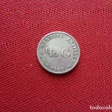 Monedas antiguas de América: ANTILLAS HOLANDESAS. 1/10 GULDEN. 1960. PLATA.. Lote 143085458