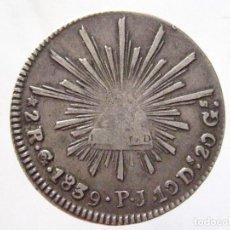 Monedas antiguas de América: MEXICO.2 REALES 1839 GUANAJUATO PJ. Lote 143134598