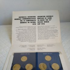 Monedas antiguas de América: MUNDIAL DE FUTBOL ARGENTINA 1978 MONEDAS CONMEMORATIVAS, SERIE COMPLETA DE 6 MONEDAS. Lote 143155849
