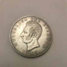 Monedas antiguas de América: CINCO SUCRES 1943. Lote 143337068