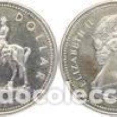 Monedas antiguas de América: CANADA 1 DOLAR (DOLLAR) PLATA 1973 CENTENARIO POLICIA MONTADA DEL CANADA FDC. Lote 145316118