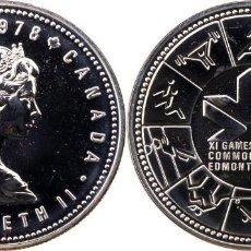 Monedas antiguas de América: CANADA 1 DOLAR (DOLLAR) PLATA 1978 XI JUEGOS DE LA COMMONWEALTH EN EDMONTON FDC. Lote 145316426