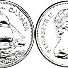 Monedas antiguas de América: CANADA 1 DOLAR (DOLLAR) PLATA 1979 BARCO GRIFFON FDC. Lote 145316618