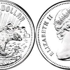Monedas antiguas de América: CANADA 1 DOLAR (DOLLAR) PLATA 1980 PARQUES NACIONALES-OSO GRIZZLY FDC. Lote 145316778