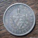 Monedas antiguas de América: MONEDA REPUBLICA DE CUBA-UN PESO-PLATA-1932. Lote 145892666