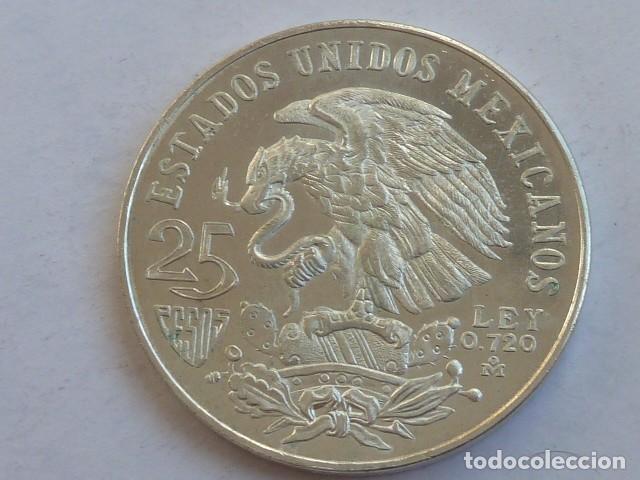 MONEDA DE PLATA DE 25 PESOS MEXICO 1968 OLIMPIADA, PESA 22,6 GRAMOS (Numismática - Extranjeras - América)