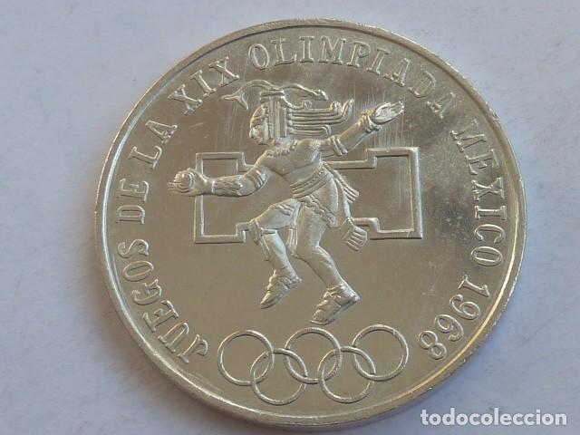 Monedas antiguas de América: MONEDA DE PLATA DE 25 PESOS MEXICO 1968 OLIMPIADA, PESA 22,6 GRAMOS - Foto 2 - 146415270
