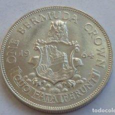 Monedas antiguas de América: MONEDA DE PLATA DE 1 CORONA DE 1964 ISLAS BERMUDAS, ISABEL II DE INGLATERRA, ESCASA, S/C-, PESA 22,6. Lote 146431650