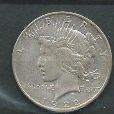 Monedas antiguas de América: ESTADOS UNIDOS, DOLAR DE PLATA LIBERTY 1922 . Lote 146771526