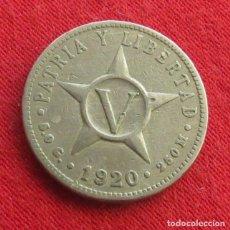 Monedas antiguas de América: CUBA 5 CENTAVOS 1920. Lote 146949770