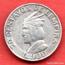 Monedas antiguas de América: HONDURAS - 20 CENTAVOS 1931 - PLATA. Lote 147219598