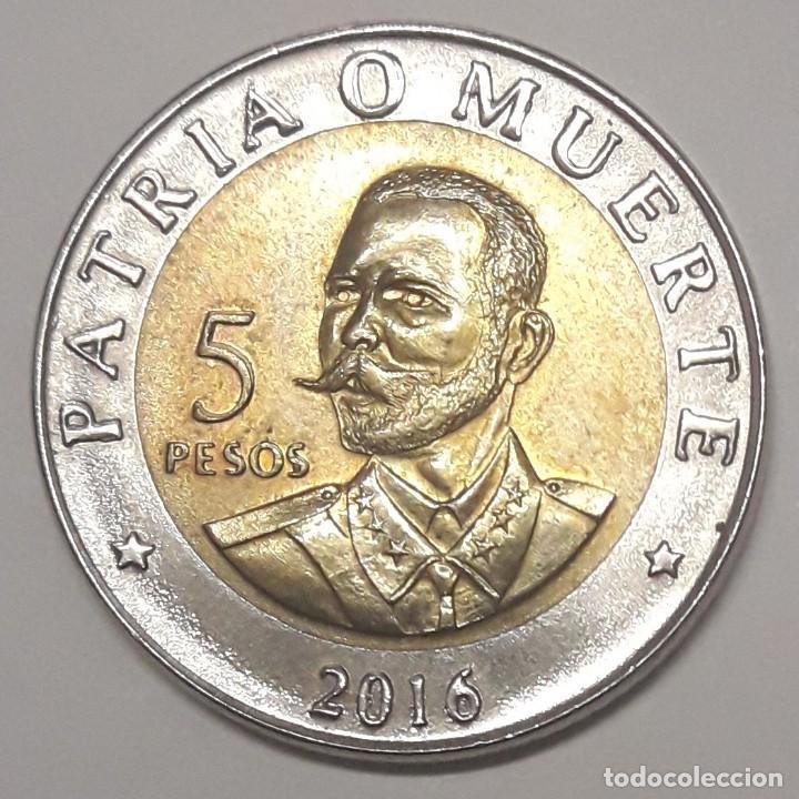 CUBA 5 PESOS 2016 SIN CIRCULAR (Numismática - Extranjeras - América)