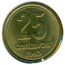 Monedas antiguas de América: ARGENTINA 25 CENTAVOS 1993 ( SC ) KM # 110.2. Lote 147555398
