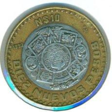 Monedas antiguas de América: MÉXICO MÉJICO 10 NUEVOS PESOS 1992 ( MBC ) KM # 553 - NÚCLEO DE PLATA. Lote 147555810