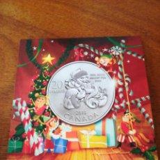 Monedas antiguas de América: 20 DOLLARS CANADA 2013 PLATA 999 BLISTER NAVIDAD PAPA NOEL. Lote 147689290
