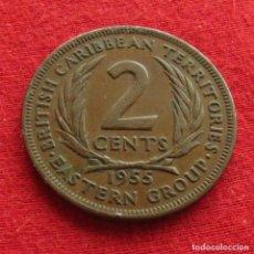 Monedas antiguas de América: CARIBE ORIENTAL 2 CENT 1955 EAST CARIBBEAN. Lote 147722430