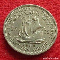 Monedas antiguas de América: CARIBE ORIENTAL 25 CENTS 1965 EAST CARIBBEAN . Lote 147722546