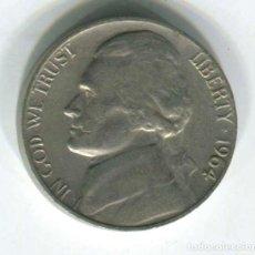 Monedas antiguas de América: USA: ESTADOS UNIDOS, FIVE CENTS 1964. 5 CENTAVOS. Lote 147724326