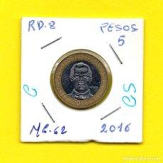 Monedas antiguas de América: REPUBLICA DOMINICANA 5 PESOS 2016 - [C - CS]. Lote 147729298